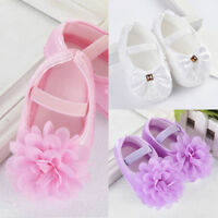 Newborn to 18M Infant Baby Girl Soft Crib Shoes Moccasin Prewalker Sole Shoes~