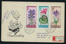 HUNGARY 1966 Flower Protection Registered to USA First Day Cover  SHS USED