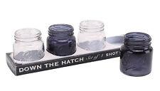 Novelty MASON JAR Transparent DAPPER CHAP Shot Glasses BBQ STAG Party Mens Gift
