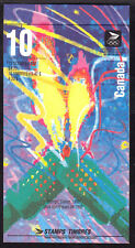 CANADA BOOKLET #BK144d 42c 1992 OLYMPIC WINTER GAMES, FLAME AT LEFT, OPEN