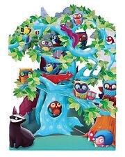3D Swing Cards by Santoro - WOODLAND TREE OF BIRDS - SG-SC-129
