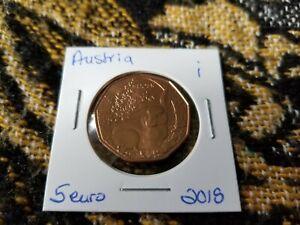 Austria 5 Euro Copper UNC Uncirculated - 2018 Easter Bunny - i