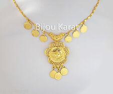 Tugra Coins Chain Ceyrek 24 k gold plated TüM Altin Kaplama Kolye Gerdanlik