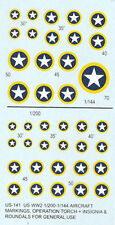 US-141 - WWII US Aircraft Insignia and Roundels - 1/200-1/144