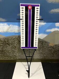 Cornhole - Horseshoe - Scoreboard Score Keeper Sign - Purple And Black