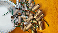 25 pyro silver salute tubes 5/8 x 1-1/2 25 paper ends.with fuse no powder