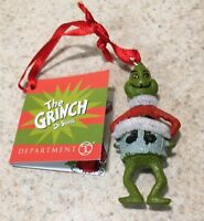 DEPT 56 THE GRINCH IN CHRISTMAS Santa Sweater ORNAMENT