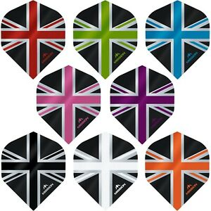Union Jack Dart Flights Mission Alliance Standard UV Finish 1-10 Sets Tough UJ