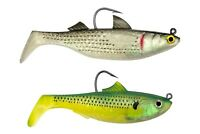 "TSUNAMI PRO Deadly Duo 3-1/2"" Saltwater Tournament Swimbait MULLET SARDINE New"