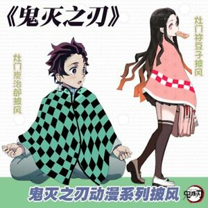 Demon Slayer Kamado Tanjirou Nezuko Cosplay Clothing Cloak Winter Blanket