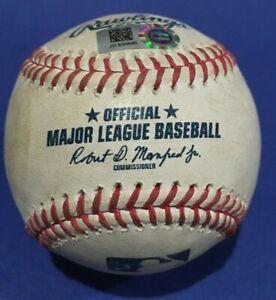 BLUE JAYS ORIOLES GAME USED BASEBALL AUGUST 19 2020 BIGGIO FRY MLB HOLOGRAM