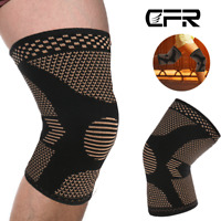 Copper Knee Brace Support Compression Sleeve Football Joint Pain Arthritis Strap