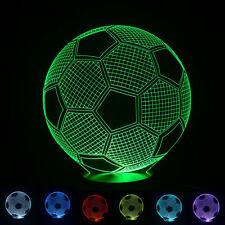 Ball 3D LED USB Football Soccer Lamp Color Changing Desk Night Light B500
