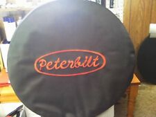 "TRUCK FUEL TANK COVERS PETERBILT WITH RED  LETTERS SET OF 2 26"" VINYL TO -60"