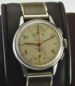 Vintage Valjoux 77 Lorton Chronograph Men watch Swiss Made Hand Winding