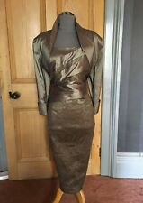 BEAUTIFUL ISPIRATO MOTHER OF THE BRIDE/EVENING DRESS AND BOLERO, SIZE 18