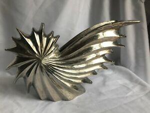 Silver Aluminium Vase Star Unique Home Decor
