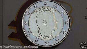 2 euro MONACO 2016 da rotolino fdc Principe ALBERTO prince albert II Монако