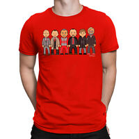 Mens VIPwees T-Shirt Liverpool Managers Football Legends Caricature Gift For Him