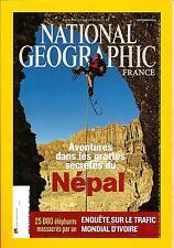 NATIONAL GEOGRAPHIC N°157 OCTOBRE 2012  GROTTES SECRETES DU NEPAL/ TRAFIC IVOIRE