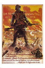 Nobody passes through! VINTAGE WAR POSTER Maurice Neumont France 1918 24X36