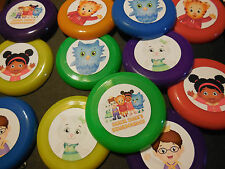 12 DANIEL TIGER mini frisbees birthday party favors, treat bag loot, prize PBS