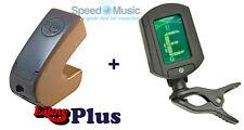 Ebow Plus Hand Held Sustainer Pedal De Efecto-Incluye con un Clip En Afinador De Guitarra
