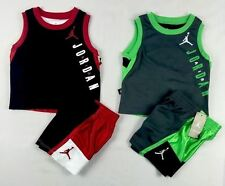 Nike Jordan Baby Boys' set, 2-Piece Tank & Colorblocked Shorts Set- 12,18,24 mos
