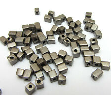 Gray 3-4MM 180pcs Loose Charm Glass Square spacer Beads DIY Crafts