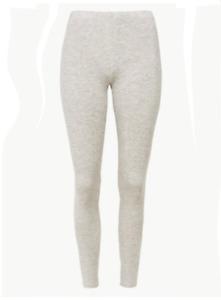 Ex M&S Grey Marl Heatgen Technology Thermal Lightweight Stretch Leggings