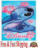 Disney Towel Stitch Floral Stitch Beach Towel 28x58 Original
