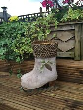Herb PLANTER SALE Plant Pot BOOT Ice Skate *ATTRACTIVE GIFT*- *STOCK CLEARANCE*