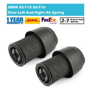 2Pcs Rear L&R Air Suspension Spring Bag Fit For BMW X5 F15 13-18 X6 F16 15-20