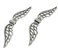 10 Engel Flügel 32mm Metall Anhänger Spacer Perlen Schmuckherstellung BEST M438