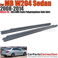 C63 AMG Style Side Skirt Rocker Panel For Mercedes Benz W204 08-14 C-Class Sedan