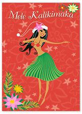 Hawaiian Christmas 12 Cards Pack Aloha Hula Girls Hawaii Mele Kalikimaka SALE N