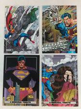DOOMSDAY DEATH OF SUPERMAN Complete Spectra MEMORIAL TRIBUTE Chase Card Set of 4