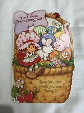 Strawberry Shortcake Greeting Card Easter Vintage Forget Me NotAmerican Greeting