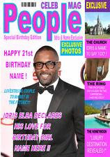 Idris Elba A5 'Magazine Style' Personalised Birthday Card Any Name / Age!