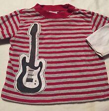 Gymboree Rock On Boys Long Sleeve Shirt Size 6-12 Months Guitar