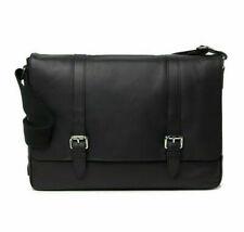 NWT Cole Haan Smooth Leather Messenger Bag Black, MSRP $398