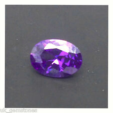 Purple Cubic Zirconia 7x5 Oval, Brilliant Cut AAAAA Grade.  2 Stones