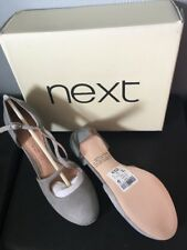 Ladies Beautiful NEXT Suede Leather Hi-heeled Shoes Grey UK 6 New Boxed RRP £52