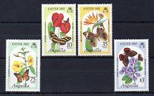 Anguilla 1982 Easter - Butterflies on Flowers MNH set S.G. 502-505