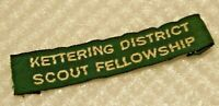 Scouts group name tag, Kettering District Scout Fellowship.