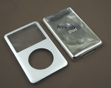 silver metal front faceplate back case housing cover for ipod 6th classic 80gb