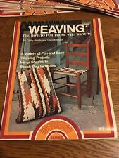 Vintage Weaving The How To For Those Who Want To Instruction Craft Booklet-Nos