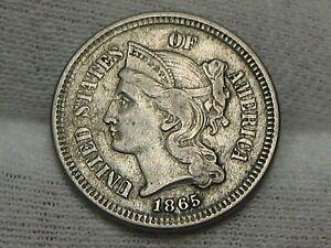 Better Grade 1865 3¢ Three Cent Nickel.  #5