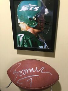 Boomer Esiason autographed Signed Football and 8X10 photo