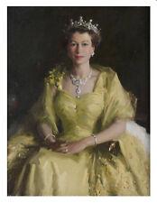 Handcraft Portrait Oil Painting on Canvas,Queen Elizabeth II,24x32inch